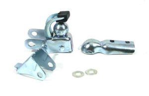 Attelage standard en acier pour remorques vélo – Attelage pour remorque vélo POWERTAKER et MAXICARGO – fixation sur la tige de selle