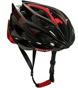 AWE AWESpeed Remplacement DE Crash Gratuit 5 Ans * Moule Adulte Hommes en Cyclisme sur Route Casque 58-61cm Noir de Carbone Rouge