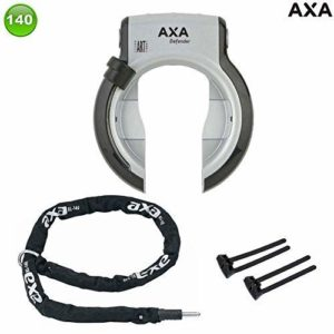 Axa Defender Art Cadre Fermé avec Axa Collier RLC140 + Axa -flex ,Arrière,Argent