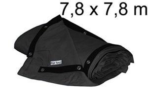 bâche de ring de boxe 7,8 x 7,8 m – coton résistant, noir