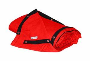 bâche de ring de boxe 7,8 x 7,8 m – coton résistant, rouge