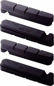 BBB RoadStop BBS-03A Set de 4 gommes pour vélo de course Noir