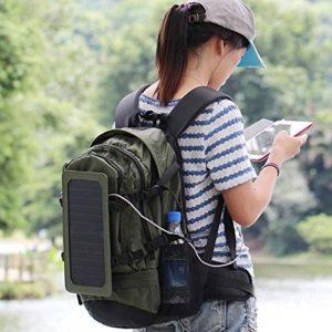Calli En plein air à dos solaire chargeur solaire sac à dos de pack avec panneau solaire 6.5W amovible