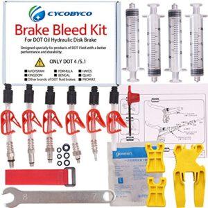 Cycobyco – kit de purge d'huile de frein à disque pour VTT, outil de vélo pour Avid, SRAM, Dode, Juicy, Hope, Bngal, Hayes, Formula J3,J5,J7, Genaral kit
