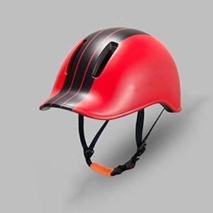 DEI QI Casque de vélo, Casque de Cycliste, Moulage intégré, vêtements d'équitation, Unisexe (Couleur : Black Red)
