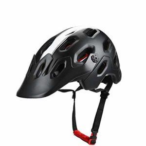 DEI QI Casque de vélo, Unisexe, Casque de vélo de vélo de Montagne, Ultra-léger, Moulage d'une Seule pièce (Couleur : Black, Size : L)