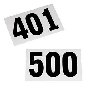 Dossards de 401 à 500