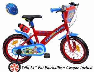 EDEN-BIKES Vélo Enfant Garçon Pat Patrouille – 14» – Rouge et Bleu + Casque Inclus