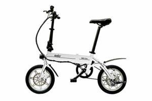 eelo 1885 Vélo électrique Pliable – Portable et Peu encombrant Parfait pour Les Caravanes, Mobile Homes, Bateaux. Batterie Lithium-ION, Jante en Alliage et Moteur eBike Silencieux (Blanc)