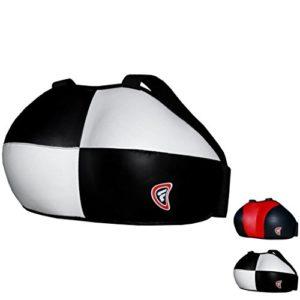 Farabi pour Femme Coffre RGM Coffre Poitrine Protection de Boxe MMA Muay Thai Martial Art équipement de Protection Coffre Guard (Blanc, Noir, L/XL)