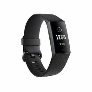 Fitbit – Charge 3 – Bracelet d'activité forme & sport : jusqu'à 7 jours d'autonomie et étanche – Aluminium Graphite / Noir