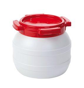 Fût à eau – 26 Litre – Etanche à l'eau et à l'air – Blanc/Rouge