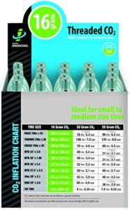 Genuine Innovations Cartouches CO2filetées pour adulte Unisexe (lot de 20)–multicolore, 16G