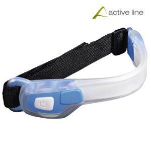 Hama Active Line, Lampe Torche LED à Bande de Bras réglable Unisexe–Adulte, Bleu, Taille Unique