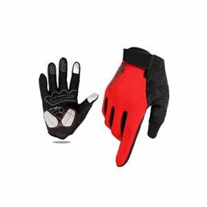 iBàste Gants de Cyclisme entièrement tactiles pour Les Doigts Respirant Confortable pour l'hiver en Plein air Cyclisme Moto 20 x 10 x 2 cm Chaud Anti-Chocs L Noir/Rouge