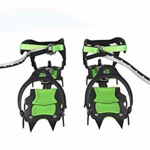 JOEPET Crampons de Traction, Crampon de Neige et de Glace Crampons, Crampons Anti-dérapants en Acier Inoxydable pour l'alpinisme et l'escalade sur Glace (1Pair),Longtooth