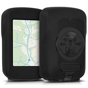 kwmobile Housse GPS vélo – Accessoire pour Garmin Edge 820 / Explore 820 – Protection boitier navigateur – Étui en Silicone Noir