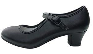 La Senorita Chaussures flamenco espagnol,Noir,taille 39 – 24,5 cm