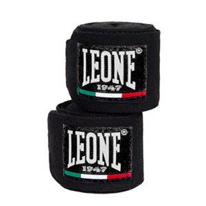 LEONE1947AB705 Bandes de boxe coton – noir – 2,5 m