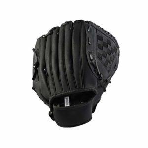LIOOBO Gant de Baseball épaissi pour Balle de Base-Ball de 12,5 Pouces pour Sports d'équipe en extérieur (Noir L)