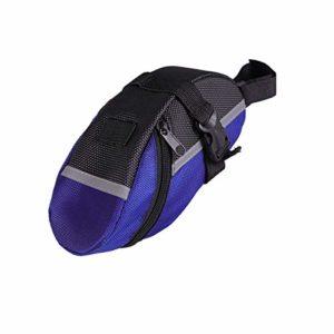 LIOOBO vélo imperméable à l'eau siège arrière Sac arrière Sac de vélo Portable Sac de Selle Sac à Outils de vélo Sacoche de Queue (Bleu)