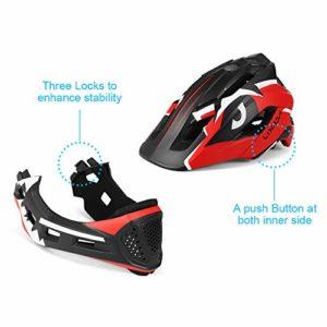 Lixada Casques de vélo Enfants Casque Intégral Détachable Casque De Sécurité Sportive pour Vélo Skateboarding Roller Skating
