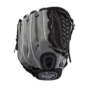 Louisville Slugger 2019Genesis Champ extérieur Gant de Baseball–Main Droite Couvre-lit Noir/Gris métallique/Blanc, 29,2cm