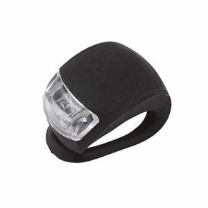 Ogquaton Eclairage Vélo Silicone Imperméable Avant Roue Arrière Flash Light Vélos Roue LED Lampes 1 Pièce Noir