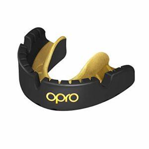 Opro Gold Braces Sports Mouthguard Unisex, Noir, Adulte