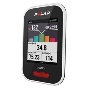 Polar – V650 – Compteur Vélo GPS Intégré – Mixte Adulte – Blanc Moyen