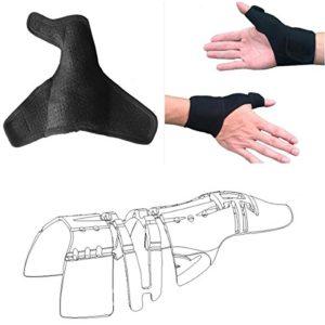 pouce attelle soutien garde avec poignet wrap brace (célibataire, unisexe, gauche et droite), pouce est 3d plein cadre stabilisateur, médecin pouce la douleur arthritique brace