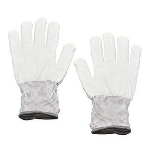 Primi une paire Danse Carnaval Concert fête d'éclairage LED Clignotant Glow Coton doigt Main Gloves-white