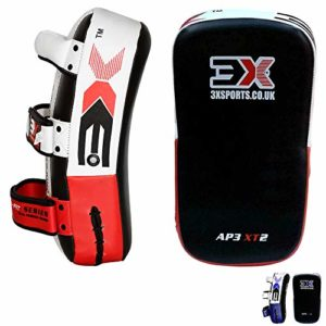 PROFESSIONAL CHOICE 3X MMA Strike Training Shield Thai Pad Kick Boxing Punching Mitts, Pair, Single (Red/Black, Single)