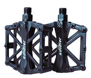 ProHomer Pédales Vélo Route, Pédale de Vélo 9/16 Pouces avec Antidérapant Scellé Durable/Outil D'installation Libre, pour Vélo De Randonnée VTT Vélo De Route Universel BMX (Noir)