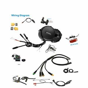 Pswpower Afficheur de kit de Moteur de Centre de vélo électrique 44TP850C Octagon 48V750W(AD) BF-750-850C-44T