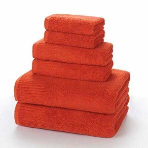 PWTY 3Pcs / 1Set 100% Coton Adulte Serviette De Bain Hôtel Bain Centre Salon De Beauté Serviette De Bain Serviette Carrée Serviette De Bain Absorbant, Rouge, 3 Tailles