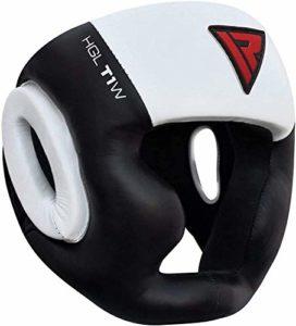 RDX Casque de Boxe Cuir MMA Garde La Tête Protecteur Protection Muay Thai (CE Certifié Approuvé)