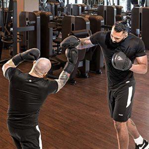 RDX MMA Incurvé Pattes d'ours Boxe Muay Thai Pao Frappe | Mat Noir Convexe Peau Cuir avec Ajustable Sangle | Cible Kick Boxing Pads Mitaines Entraînement