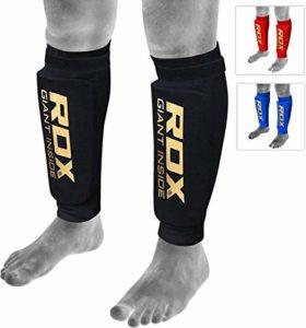 RDX Protège Tibia Boxe MMA Kick Boxing Muay Thai Karate (CE Certifié Approuvé par SATRA)