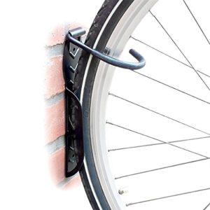 Relaxdays Support mural pour vélo 2 pièces Noir