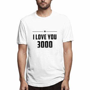 Romantic Hommes i Love You Pattern imprimé T-Shirts Chemise à Manches Courtes à Manches Je t'aime la Mode Les Hommes t'aiment Trois Mille Fois Lettre imprimée Simple t-Shirt