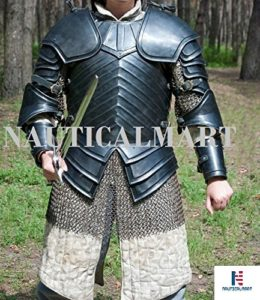 SCA Combat Armour, Brienne de Tarth Armour Conséquence. 16 GA en acier noirci Halloween