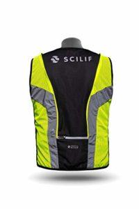 SCILIF Unisexe – Adulte Motovest Gilet Moto avec éléments réfléchissants et Technologie de lumière brevetée Unique High Visibility Jaune XS