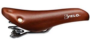 selle singlespeed avec ressort vélo VL6067 peau brune + rivets