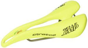 Selle SMP Stratos chromé Selle vélo Course Unisex-Adulto, Jaune Fluo, M