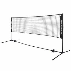 SONGMICS Filet de Badminton Pliable Facile à Monter Facile à Transporter Longueur 4m Hauteur réglable (107cm, 120cm, 155cm) SYQ400H