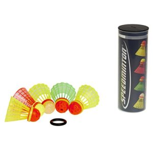 Speedminton® Mixpack Volants de Badminton 1 Fun-Speeder, 2 Match-Speeder, 1 Night-Speeder et 1 Cross-Speeder