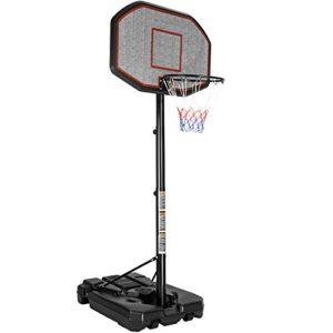 TecTake Panier de basket sur pied mobile | avec roues | hauteur du panier : 200 – 305 cm