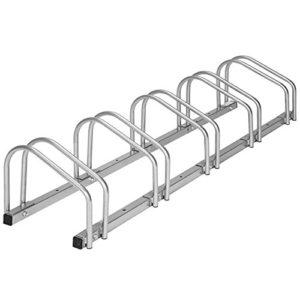 TecTake Râtelier range-vélo pour vélos | en acier revêtu – diverses modèles – (pour 5 Vélos | no. 402379)