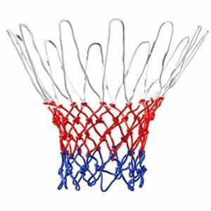 TRIXES Filet de basket en nylon rouge/blanc/bleu 12 boucles